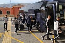 Fotbalisté Viktorie Plzeň dorazili v úterý do španělského Benidormu po sedmi hodinách cesty
