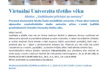 Virtuální univerzita třetího věku v Centru Caolinum Nevřeň.