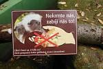 Cedule varují před krmením zvířat, přesto je návštěvníci nerespektují