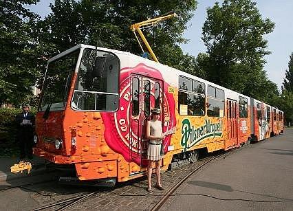 Pivovarská tramvaj jezdí zdarma.