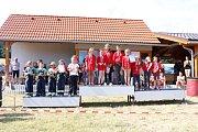 Kulaté jubileum oslavili dobrovolní hasiči v Brodeslavech soutěží v požárním útoku. Foto: archiv SDH Brodeslavy