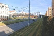 Návrh podoby lávky pro pěší přes Rokycanskou třídu v Plzni