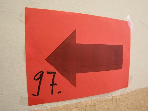 Volby se v jedné místnosti v Plzni o půl hodiny zdržely