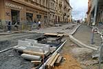 Opravy Solní ulice v Plzni.