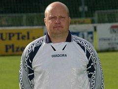 Trenér Rokycan Pavel Aubrecht.