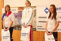 Bronz vybojovala na Závodu olympijských nadějí Plzeňanka Barbora Ciprová (vpravo). Lepší byla jen její reprezentační kolegyně Jolana Hojsáková a vítězná Maďarka Tothová