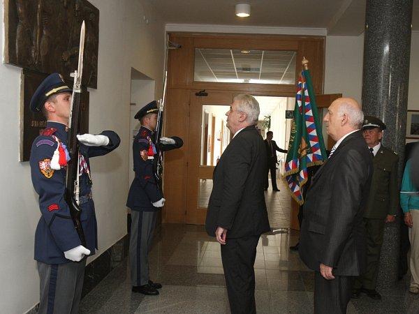 Václav Šlajs doprovázel prezidenta Miloše Zemana při jeho návštěvě vPlzeňském kraji