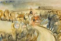 Kresby Františka Pečeného jsou k vidění v bance na Americké třídě