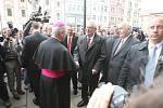 Prezident Miloš Zeman na náměstí Republiky