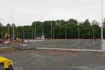 Výstavba sportoviště v Ledcích
