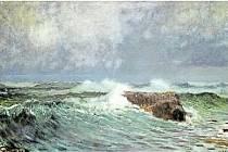 PŘED BOUŘÍ. Obraz od Antonína Hudečka objevili znalci umění vloni při dnech Dorothea v Plzni.