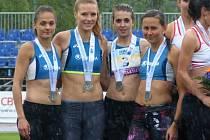 Atletky Škody Plzeň zleva: Tereza Petržilková, Veronika Meczlová, Anna Suráková a Sára Sumegová.