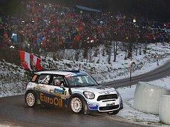 Posádka Václav Pech – Petr Uhel (EuroOil-invelt Team) na trati rakouské Jänner rallye. Plzeňský pilot dojel celkově na čtvrtém místě a mezi českými jezdci skončil druhý