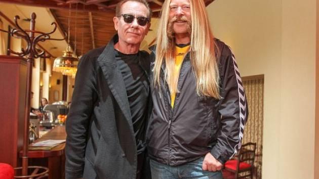 Jiří 'Ozzy' Kubík (vpravo) s Grahamem Bonnetem