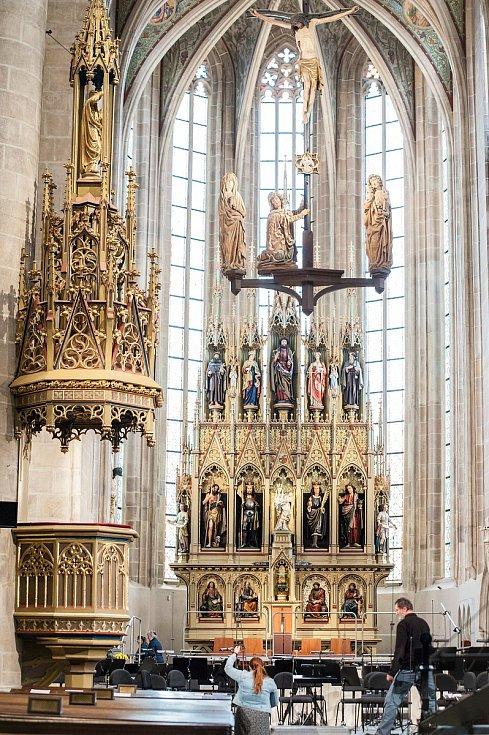 Otevření katedrály svatého Bartoloměje v Plzni.