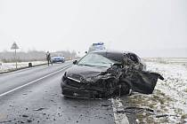 Vážná dopravní nehoda u Všerub.
