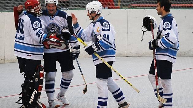 Extraligoví hokejbalisté Škody Plzeň sice v dosavadním průběhu sezony moc důvodů k radosti neměli, ale v sobotu se mohli radovat po vítězství nad Řetenicemi z postupu do dalšího kola Českého poháru