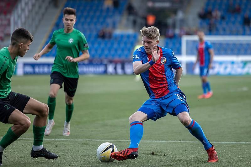 Pavel Šulc během pohárového utkání s Příbramí (2:1), v němž vstřelil vítězný gól.