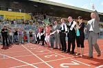 Slavnostní otevření atletického stadionu v Plzni