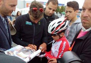 Do Plzně dorazila v sobotu největší hvězda probíhajícího společného mistrovství České a Slovenské republiky v silniční cyklistice a vůbec superstar světové profiscény Peter Sagan.