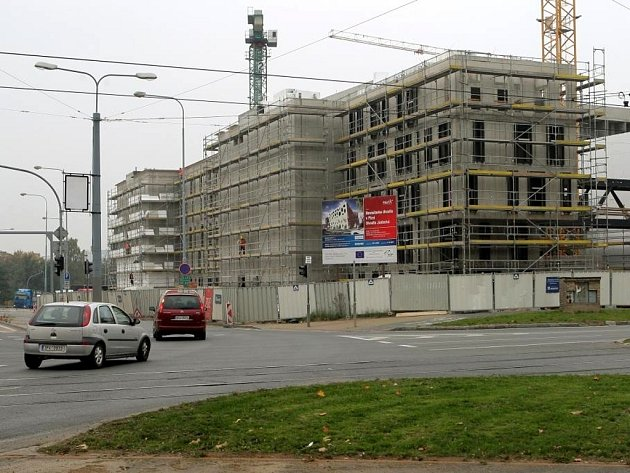 Výstavba nového divadla v Plzni.