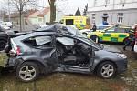 Dopravní nehoda v Sušické ulici v Plzni.