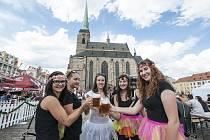 Gambrinus slaví 150 let na náměstí Republiky v Plzni