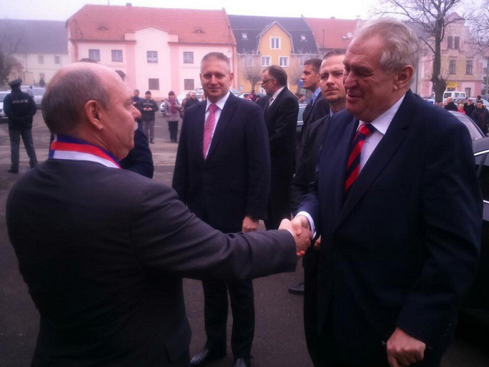 Prezident Miloš Zeman v Chyši