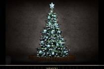 Plzeňané si i letos mohou vybrat dozdobení vánočního stromu a nově výzdobu Klatovské třídy. Na snímku varianta 1: led řetěz s flash efektem, velké či malé světelné hvězdy, světelná špička, plastové ozdoby.