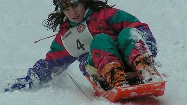 Sokol Horní Bříza uspořádal o uplynulém víkendu Sokolský den na sněhu aneb 1. ročník Závodu na čemkoliv v lyžařském areálu Špičák na Šumavě