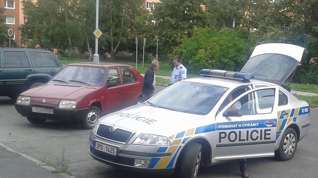 Opilý řidič v Sokolovské ulici v Plzni.