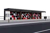 Vizualizace zastávek pro tramvajovou trať č. 4 v kampusu ZČU v Plzni od Radka Muziky.
