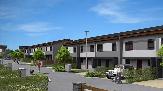 Téměř 120 nízkoenergetických rodinných domů vyrůstá v obci Myslinka na Plzeňsku.