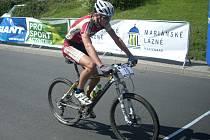 Celkově pátý proťal cíl druhého ročníku MTB Tourv Mariánských Lázních nejrychlejší junior Daniel Pánek z Author Teamu Stupno
