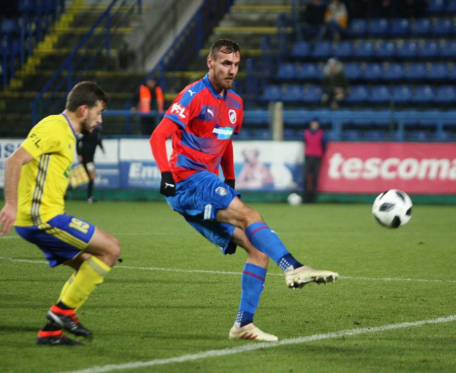 V pátečním duelu 18. kole FORTUNA:LIGY fotbalisté Fastavu Zlín (ve žlutém) hostili úřadujícího mistra Viktorii Plzeň.