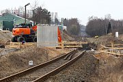 Stavba přeložení železniční tratě Plzeň - Domažlice u Domažlické třídy v Plzni