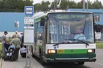 Nová konečná trolejbusu číslo 15 - Borská pole, Teslova