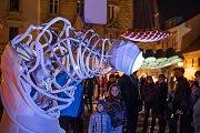Festival světla BLIK BLIK opět rozzářil Plzeň