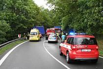 Vážná nehoda zablokovala silnici u Kasejovic.