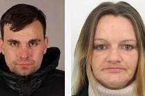 Plzeňští policisté intenzivně pátrají po podezřelém Pavlu Strakovi, který by se mohl pohybovat se ženou Ivanou Novou (oba nasnímku)
