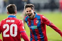 Gólová radost Aleše Čermáka v utkání s Teplicemi (7:0).