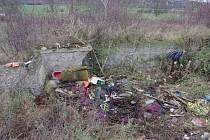 Odkrývání podezdívky znamenalo vymýtit houští a vysbírat všechny odpadky.