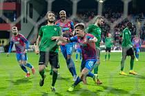 Plzeňský fotbalista Pavel Bucha zkompletoval proměněnou penaltou v zápase 22. kola FORTUNA:LIGY s Příbramí (4:0) svůj hattrick.