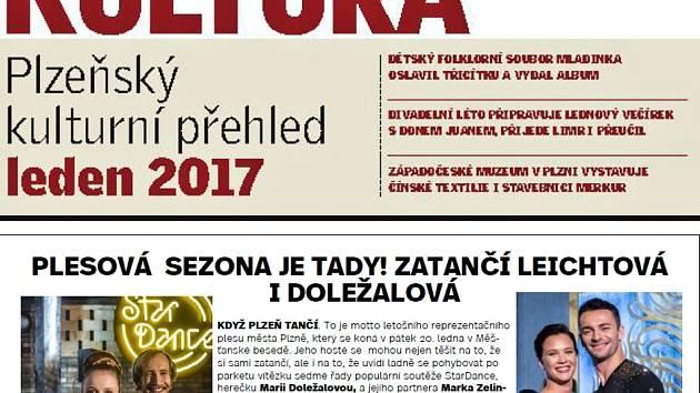 Lednová Kultura bude součástí Deníku 27. prosince.