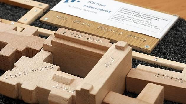Model areálu ZČU pro nevidomé