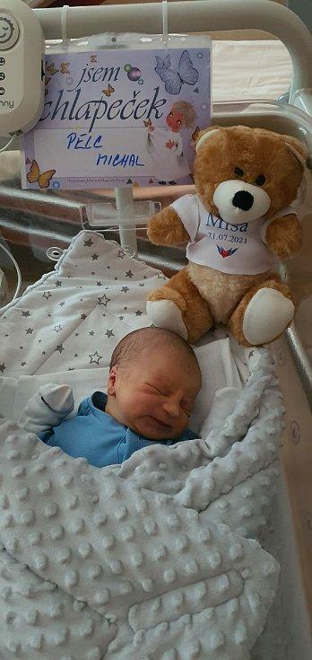 Michal Pelc se narodil 21. července 2021 v 8:36 hodin mamince Jitce a tatínkovi Michalovi z Plzně-Slovan. Po příchodu na svět v porodnici FN Lochotín vážil jejich chlapeček 3180 g a měřil 51 cm.