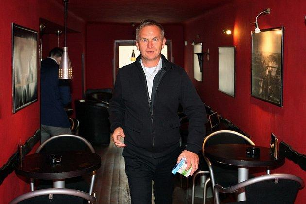 Volební štáb ANO. Na snímku Miloslav Zeman