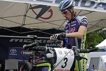 MADRID ROZHODNE. Plzeňský cyklista Milan Spěšný (na archivním snímku) pojede v neděli klíčový závod o účast na olympijských hrách v Pekingu.