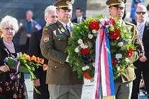 Pietní akt u památníku generála Pattona