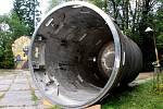 Reaktor v muzeu v Brdech.